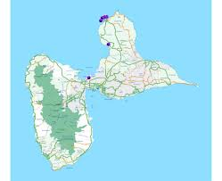 Driving Map Of America by Maps Of Guadeloupe Detailed Map Of Guadeloupe In English