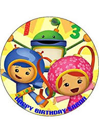 umizoomi cake toppers team umizoomi edible premium thickness sweetened vanilla wafer