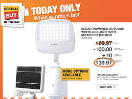 home depot daily deal outdoor solar powered led lights saving