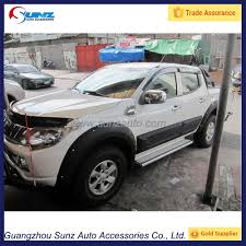 mitsubishi strada 2016 abs matte black body cladding for mitsubishi triton l200 2015
