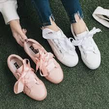 ribbon shoe laces basket satin ribbon shoe lace sneakers women s fashion shoes
