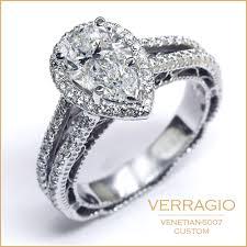 custom weddings rings images Custom design showcase venetian 5007 for pear shaped diamond jpg