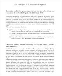 8 research proposal examples samples