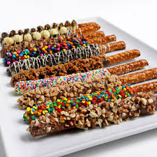 chocolate covered fruit baskets gourmet chocolate dipped pretzels by gourmetgiftbaskets