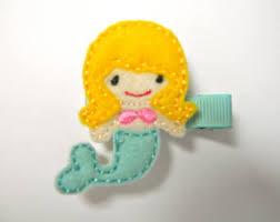 felt hair felt hair clip etsy
