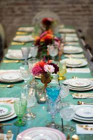 mismatched plates wedding colourful table setting i like the gold accents wedding
