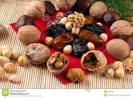 Christmas Nuts Italian Christmas Dried Fruit And Nuts Stock Photo Image 12309590