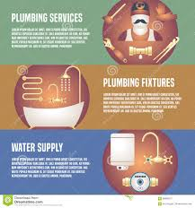 House Plumbing by House Plumbing Collection Of Three Vector Banners Stock Vector