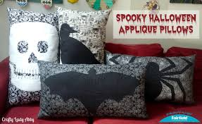repeat halloween background home decor diy spooky halloween applique pillows