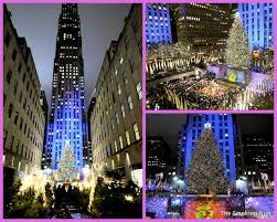 lighting of christmas tree in rockefeller center christmas