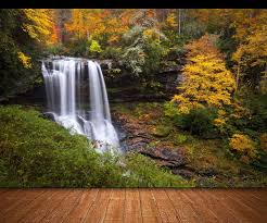 photo wallpaper forest waterfall giant wall decor paper poster for