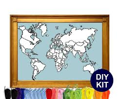 xl world map cross stitch kit studio koekoek modern cross stitch