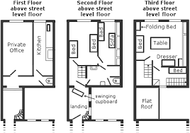 Floor Plan Of The Secret Annex   1 floor plan of the secret annexe