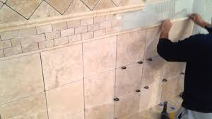Border Tiles For Bathroom How To Install Travertine Tile On Bathroom Walls Youtube