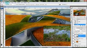 architectural illustrations photoshop landscape tutorial youtube