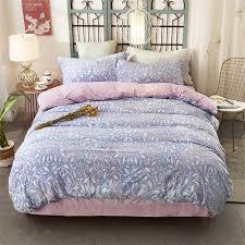 2017 thick flannel bedding set pastoral style leaves beding set