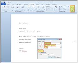 mail merge from excel mail merge