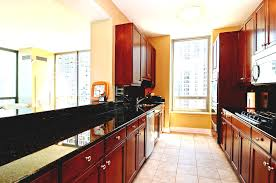 kitchen good looking long kitchen design with brown wooden