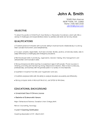 Resume Skills Summary Sample Child Care Worker Resume Business Proposal Templates Community