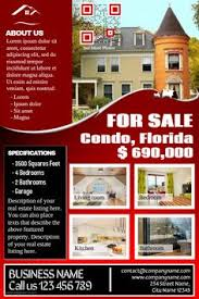 real estate flyer templates by kinzi21 on creative market