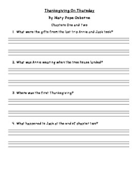 thanksgiving on thursday comprehension questions by mrs hart tpt
