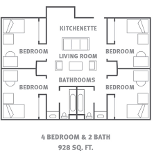 four bedroom house floor plans housing and residence utsa