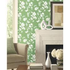 Living Room Wallpaper Scenery York Wallcovering Green Book Scenic Vines Wallpaper Ap7427