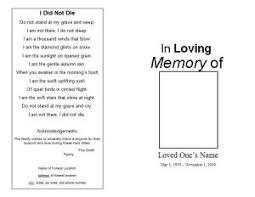 memorial program template how to make a funeral memorial program template funeral