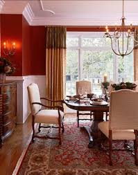Red Wall Kitchen Ideas Red Dining Rooms Red Wall Gold Ceiling Dining Room Red Walls And