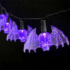 Bat Light Fixture Purple Bat Led String Lights Battery Operated