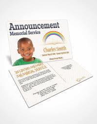 announcement card template a childs passing amber moon
