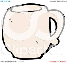 cartoon of a coffee mug royalty free vector illustration by