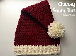 free crochet pattern chunky santa hat in 4 sizes trico