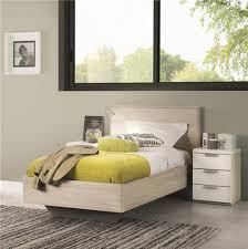 chambre chene blanchi lit finition argile loft meubles bouchiquet