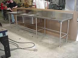 prep table with sink prep table with sink for ships quality metal works