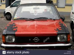 kadett opel vintage opel kadett 80 u0027s car in rockabilly look stock photo