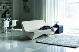 sofa bed leather upholstered origami cattelan italia luxury