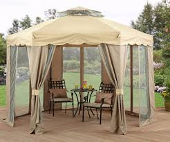 Pop Up Gazebos With Netting by 12x12 Gazebo Canopy Netting Backyard Shade Vented Roof Outdoor