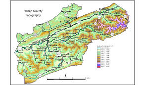 kentucky map harlan groundwater resources of harlan county kentucky