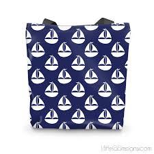 nautical tote blue nautical tote bag jahnia designs