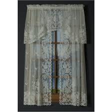 irish point jacquard lace curtain panel and valances shopbedding com