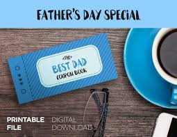 Halloween City Printable Coupons by Fathers Day Printable Coupon Book Printable Gift For Dad