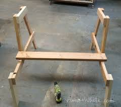 ana white firepit benches with table and storage diy projects