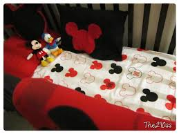 Mickey Mouse Crib Bedding Sets The290ss Crib Sheets From A Set Mickey Mouse Themed