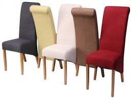 Fabric Dining Chairs Best  Tufted Dining Chairs Ideas On - Leather and fabric dining room chairs