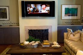 television over fireplace about off the wall audio video
