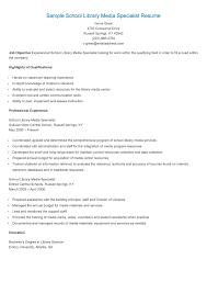 librarian resume example sample school library media specialist resume resame pinterest sample school library media specialist resume