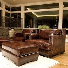 brilliant milano leather swivel recliner and ottoman modern