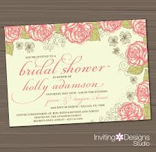 Bridal Shower Greeting Wording Garden Bridal Shower Invitations Kawaiitheo Com