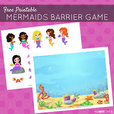 free printable mermaids barrier game speech therapy